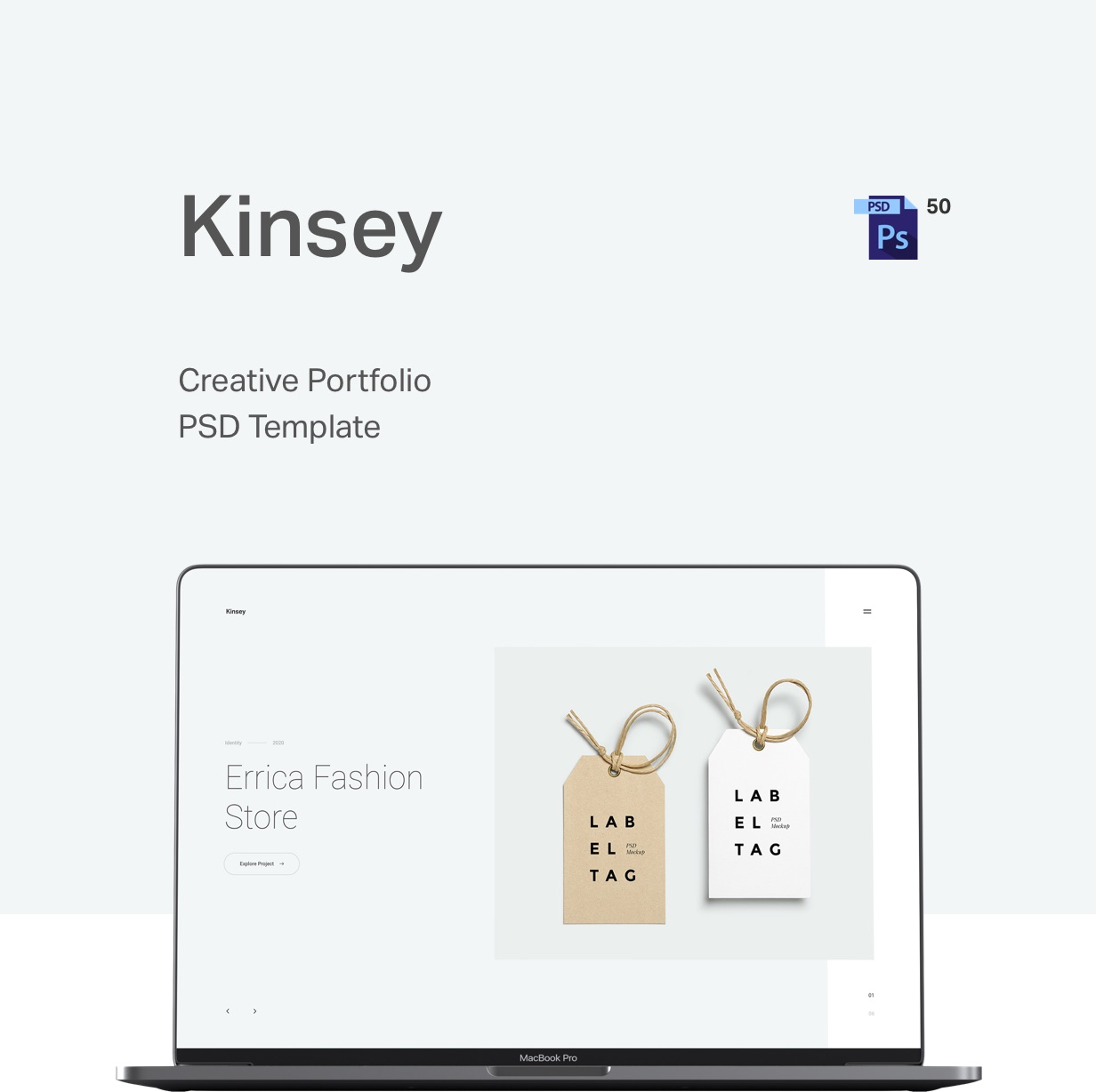 Kinsey – Creative Portfolio PSD Template - 4