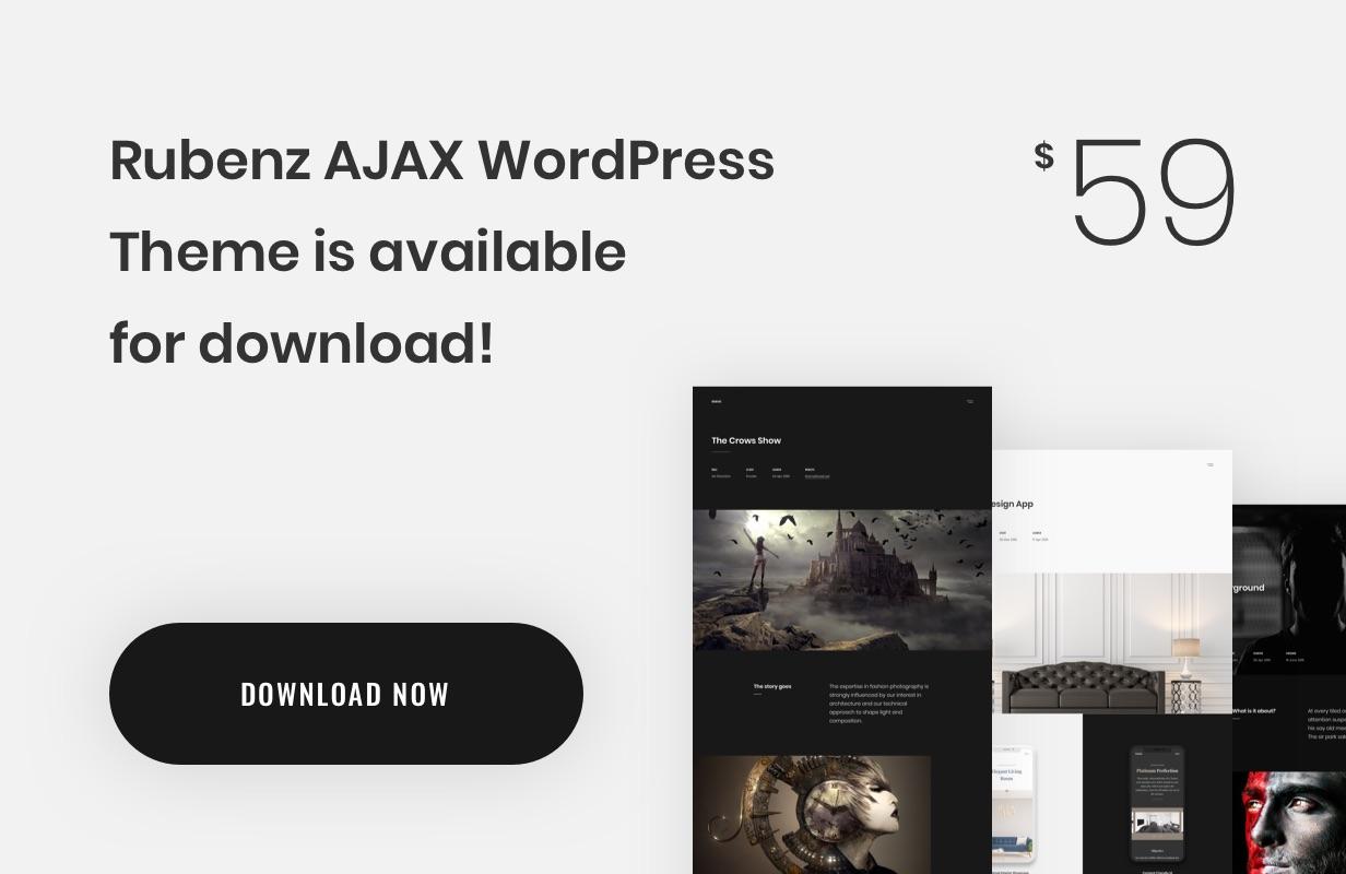 Rubenz – Creative Portfolio AJAX HTML5 Template - 4