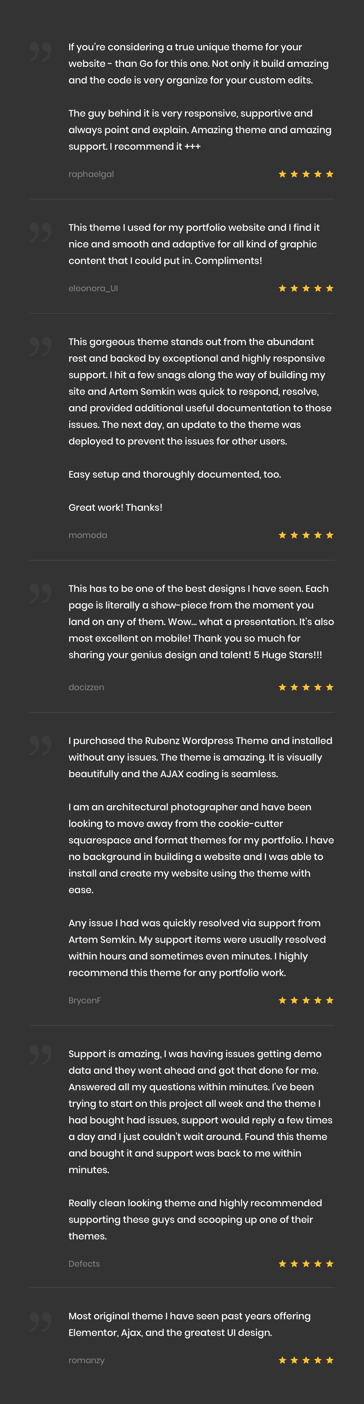 Rubenz – Creative Portfolio AJAX WordPress Theme - 19