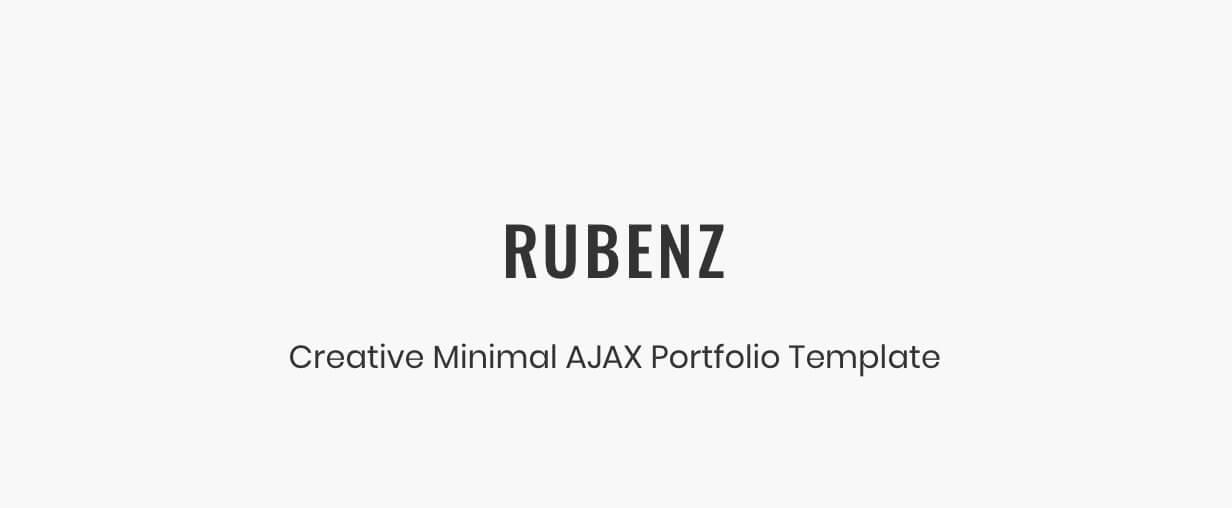 Rubenz – Creative Portfolio AJAX HTML5 Template - 5