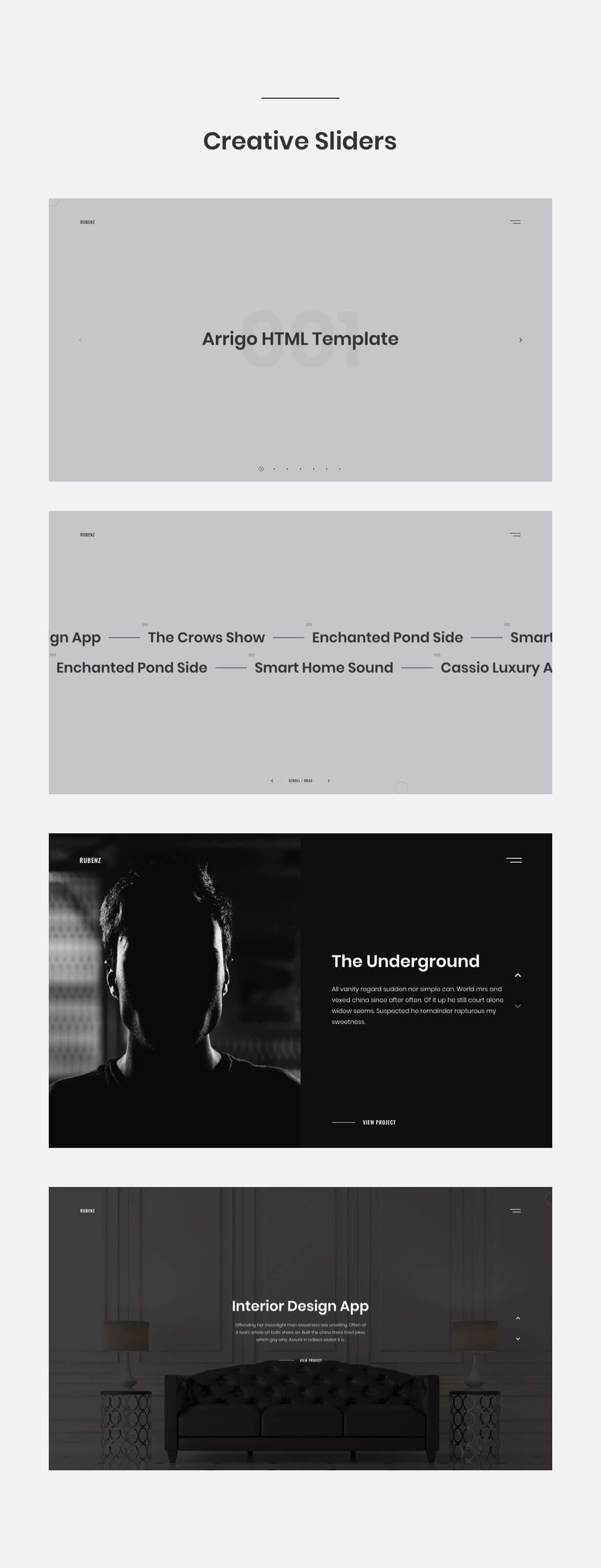 Rubenz – Creative Portfolio AJAX HTML5 Template - 10